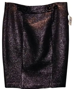Trina Turk Mettalic Skirt Metallic Copper