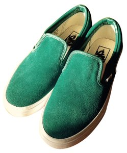 Vans Turquoise Suede Leather Flats