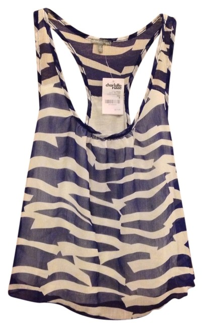 Charlotte Russe Top Navy & White