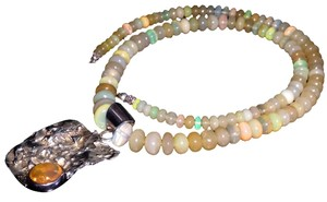 Other Sterling Silver Ethiopian Opal Necklace