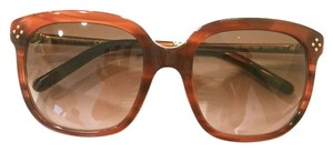 Chloé Authentic Brand New in Box Chloe Brown Sunglasses with Mini Studds and gold bar