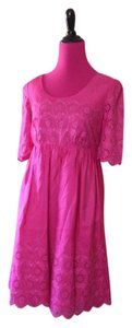 Betsey Johnson short dress Pink Designer Battenberg Lace Babydoll Empire Waist Lined Pretty Summer Trend Date Night Weekends Work Party Silk Bright on Tradesy