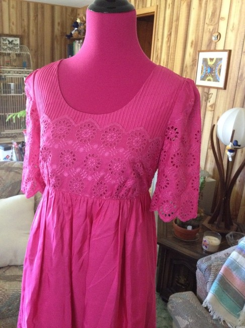 Betsey Johnson short dress Pink Designer Battenberg Lace Babydoll Empire Waist Lined Pretty Summer Trend Date Night Weekends Work Spring Party Silk on Tradesy Image 1