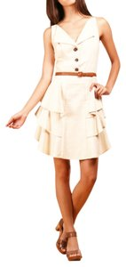 Zac Posen short dress tan Z Spoke Belted Belt on Tradesy