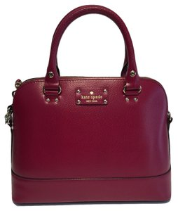Kate Spade Michael Kors Small Satchel in Red Plum