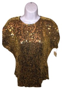 Saks Fifth Avenue Top metallic gold