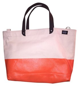 Jack Spade Tote in natural w/orange