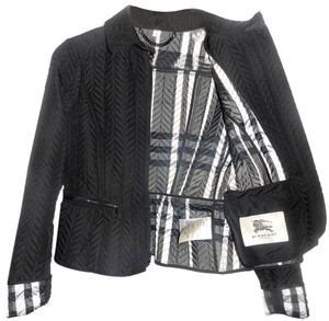 Burberry Black, black and white lining Jacket