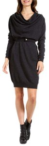 Lanvin short dress Grey Cashmere Sweater Cowl Neck on Tradesy