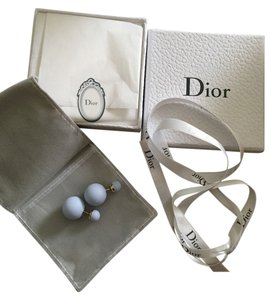 Dior Christian Dior Mise En Dior Tribal Pale Blue Matte Earrings