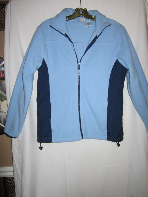 Athletic Works Fleece Comfy Warm LIGHT BLUE/DARK BLUE Jacket Image 1