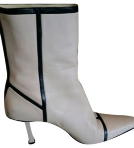 Narciso Rodriguez Leather Two-tone Classic Vintage light pink & blk Boots
