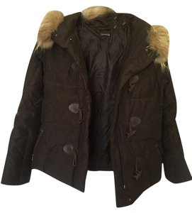 Tahari Fur Duck Down Jacket Coat