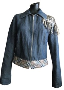 Voyage Passion Burberry Studded Paid Womens Jean Jacket