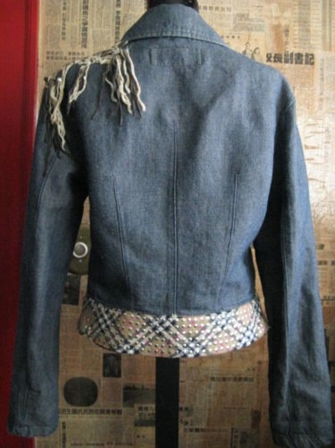 Voyage Passion Burberry Studded Paid Womens Jean Jacket Image 2