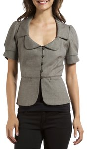 Rebecca Taylor Short Sleeve Business Chic Gray Jacket