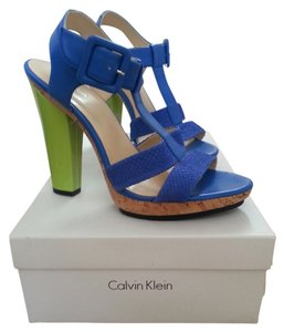 Calvin Klein Bright Platform Sandal Electric Blue Platforms