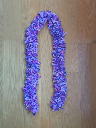 Other Purple & Pink Fuzzy Scarf