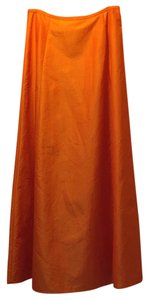 ABS Evening by Allen Edwards Maxi Skirt Orange