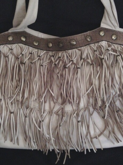 RIPANO OF COLOMBIA Fringed Tote Image 1