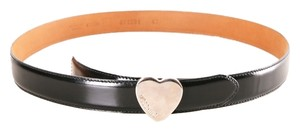 Moschino Moschino Black Leather Belt