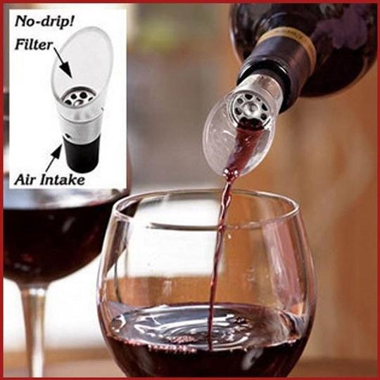 Clear 24x White Red Wine Aerator Decanter Dual Air Intake Vents Bar Tool Birthday Events Barware
