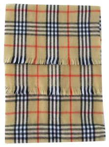 Other Scarf Brown Plaid Wool Blend