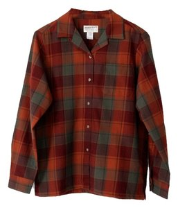 Pendleton Plaid Button Down Shirt Red