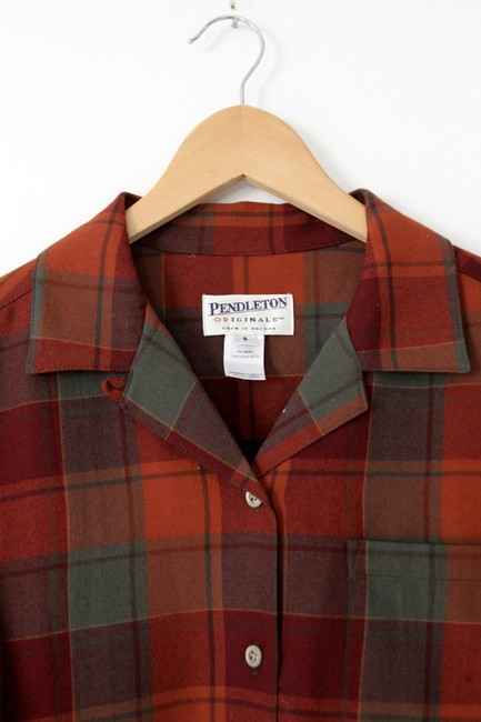 Pendleton Plaid Button Down Shirt Red Image 1