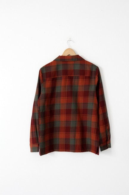 Pendleton Plaid Button Down Shirt Red Image 2