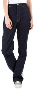 Escada Denim Pants Dark Blue Blue Boot Cut Jeans-Dark Rinse