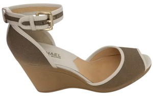 Michael Kors Taupe/white Wedges