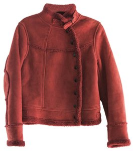 Banana Republic Shearling Shearling Red Jacket