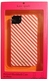 Kate Spade Kate Spade Pink/ White Stripe Hybrid Hardshell case iPhone 4/4S