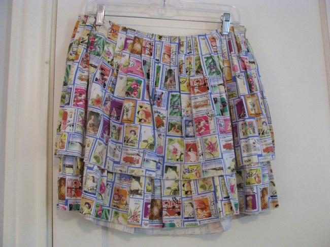 Eddie Rodriguez Mini Skirt White multi-colored Image 2