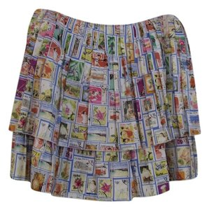 Eddie Rodriguez Mini Skirt White multi-colored