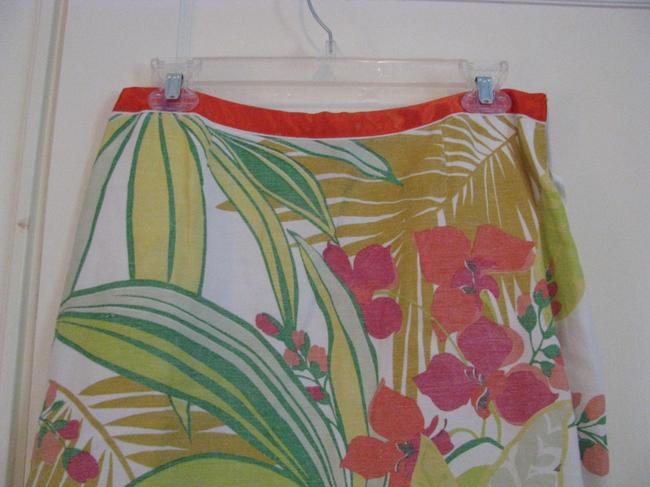 Eddie Rodriguez Skirt White with flowers