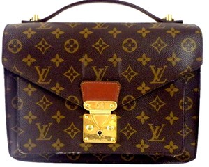 Louis Vuitton Monceau Handbag Purse Sale Messenger Monogram Satchel in Brown