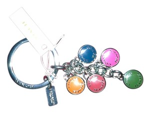 Coach Buttons Multi Mix Keyring