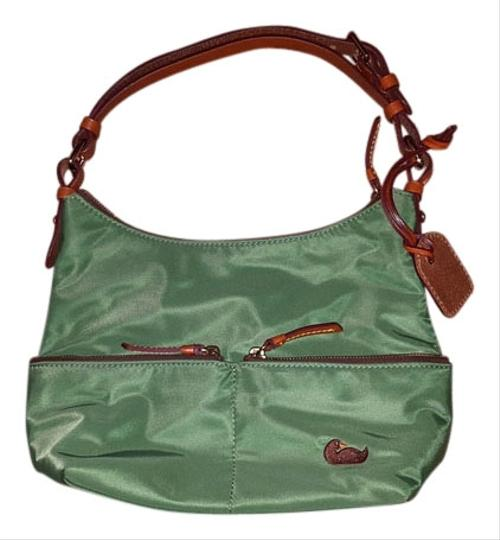 Preload https://img-static.tradesy.com/item/8484427/dooney-and-bourke-green-and-brown-hobo-bag-0-1-540-540.jpg