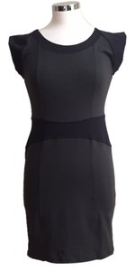 David Learner short dress Black/gray on Tradesy