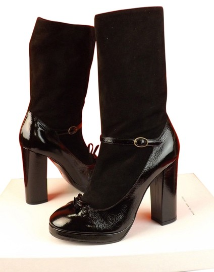 Preload https://img-static.tradesy.com/item/8484475/marc-jacobs-black-patent-leather-suede-slouch-bow-ankle-italy-bootsbooties-size-eu-38-approx-us-8-re-0-1-540-540.jpg