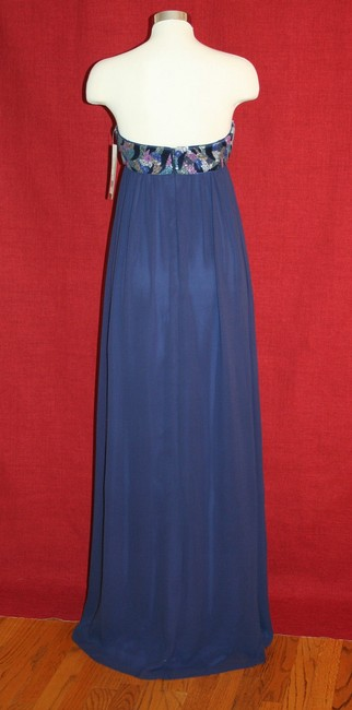 Nicole Miller Navy Blue Silk Thistle Beaded Strapless Gown Eg0004 Formal Bridesmaid/Mob Dress Size 0 (XS) Nicole Miller Navy Blue Silk Thistle Beaded Strapless Gown Eg0004 Formal Bridesmaid/Mob Dress Size 0 (XS) Image 6