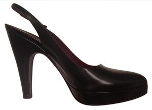 Prada Classic Platform Slingback Date Night Night Out Black Pumps
