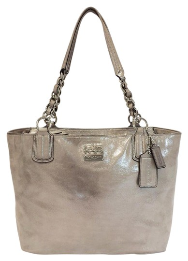 Coach Chelsea Metallic Leather 18694 Tote in Platinum