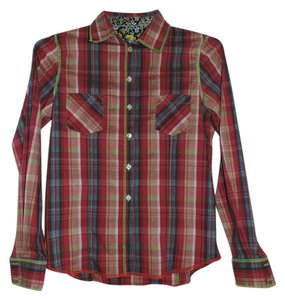 7 For All Mankind Button Down Shirt Multi-color