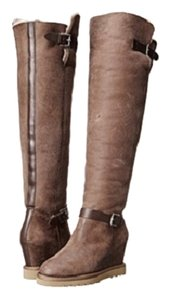 Ash Yuka Knit High Suede Winter brown Boots