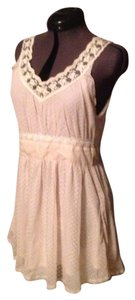 LF short dress Off-White Lace Babydoll Baby Doll Mini Whimsical Feminine Adorable on Tradesy