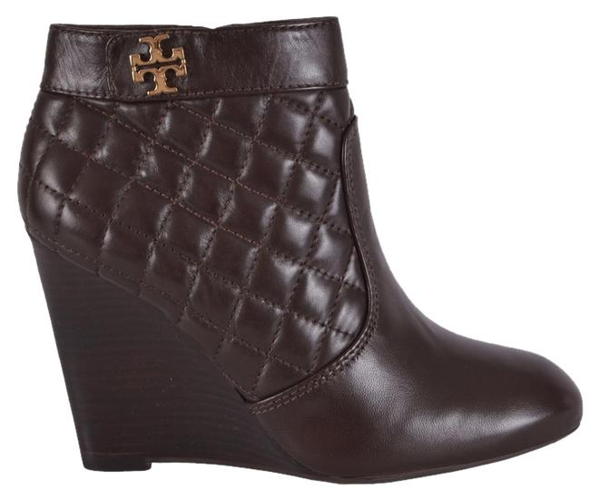 Tory Burch Brown Women's Leila Quilted Leather Wedge Ankle Boots/Booties Size US 8 Regular (M, B) Tory Burch Brown Women's Leila Quilted Leather Wedge Ankle Boots/Booties Size US 8 Regular (M, B) Image 1