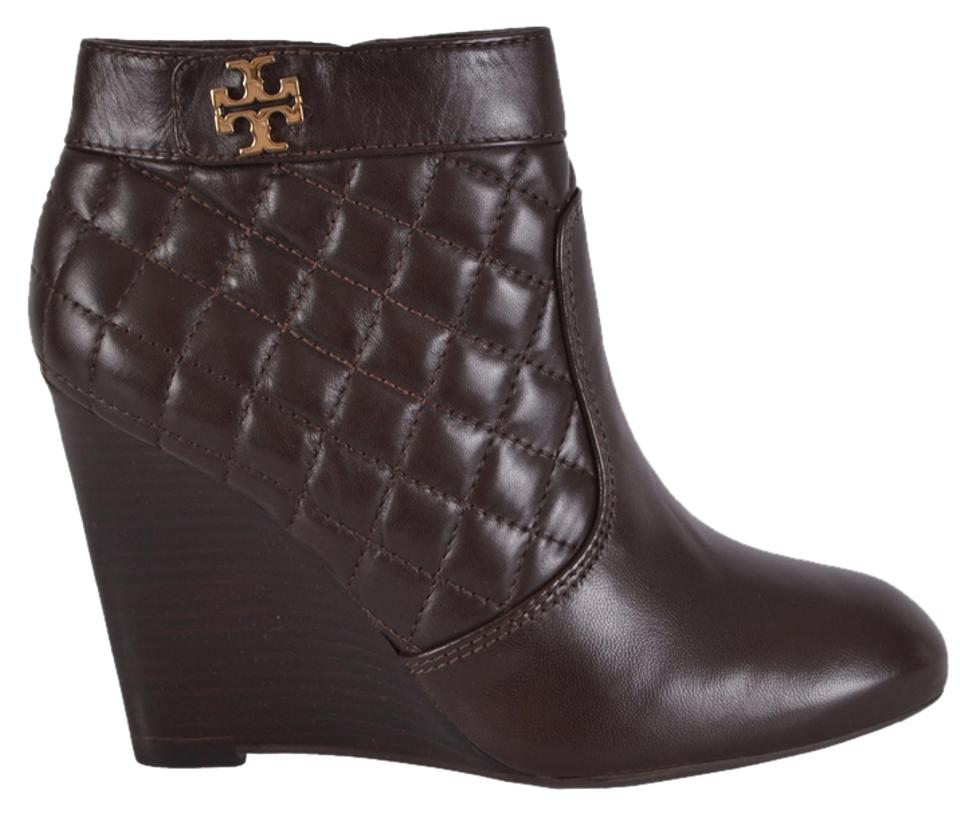 3bf59bde0 Tory Burch Brown Women s Leila Quilted Leather Wedge Ankle Boots ...